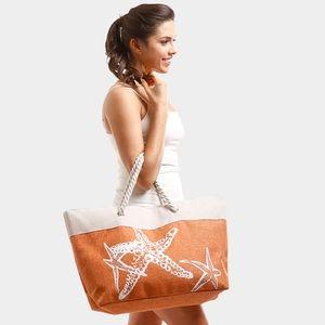 Handbags - Seashell Starfish Beach Bag